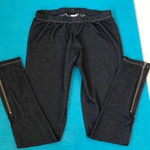 Steve Madden black leggings w/zipper Medium, NWOT